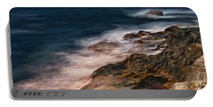 Waves And Rocks At Sozopol Town Portable Battery Charger