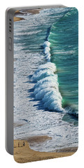 Waves At Nazare Beach - Portugal Portable Battery Charger