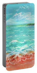 Waves At Sombrero Beach Portable Battery Charger