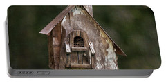 Portable Battery Charger featuring the photograph Weathered Bird House by Dale Kincaid