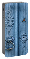 Weathered Blue Door Lock Portable Battery Charger
