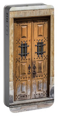 Weathered Brown Door Of Portugal Portable Battery Charger