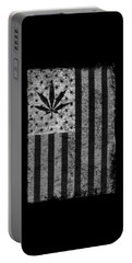 Weed Leaf American Flag Us Portable Battery Charger