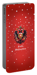 Portable Battery Charger featuring the digital art Weihnachtliche Habsburg Doppeladler by Helga Novelli