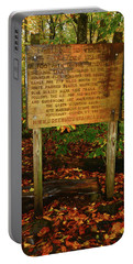 Portable Battery Charger featuring the photograph Welcome To The Long Trail And The Vermont At by Raymond Salani III