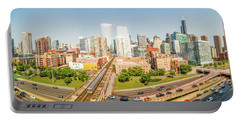 West Loop Chicago Cityscape Portable Battery Charger
