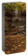 Portable Battery Charger featuring the photograph West Milton Falls In Autumn by Dan Sproul
