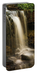 Portable Battery Charger featuring the photograph West Milton Falls Vertical by Dan Sproul