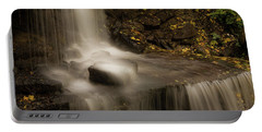 Portable Battery Charger featuring the photograph West Milton Waterfall Details by Dan Sproul