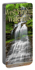 West Virginia Waterfalls Poster Portable Battery Charger
