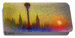 Portable Battery Charger featuring the digital art Westminster by Edmund Nagele