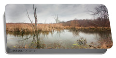 Wetlands On A Dreary Day Portable Battery Charger
