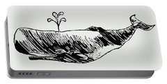Whale On Wave Paper Portable Battery Charger