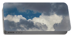 White And Gray Clouds Portable Battery Charger