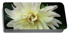 Portable Battery Charger featuring the photograph White Dahlia Beauty by Dale Kincaid