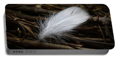 White Feather Portable Battery Charger