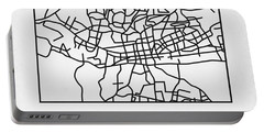 White Map Of Johannesburg Portable Battery Charger