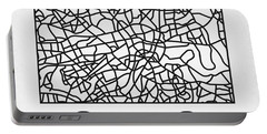 White Map Of London Portable Battery Charger