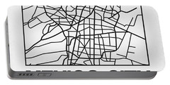 White Map Of Mexico City Portable Battery Charger