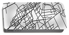 White Map Of Ottawa Portable Battery Charger