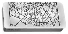 White Map Of Sao Paulo Portable Battery Charger