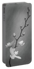 White Orchid Buds Portable Battery Charger