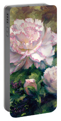 White Peony I Portable Battery Charger