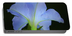 White Petunia Portable Battery Charger