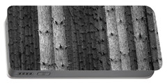 White Pines Black And White Portable Battery Charger