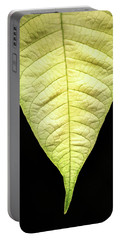 White Poinsettia Leaf Portable Battery Charger