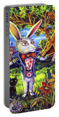 White Rabbit Alice In Wonderland Portable Battery Charger