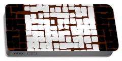 Portable Battery Charger featuring the digital art White Square 17x17 by Attila Meszlenyi