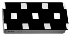 White Squares On A Black Background- Ddh576 Portable Battery Charger