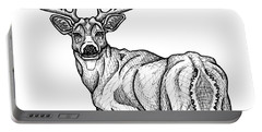 White Tailed Buck Portable Battery Charger