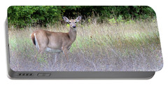 White Tale Deer Portable Battery Charger