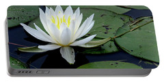White Water Lilly Portable Battery Charger