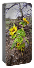 Wild Desert Sunflower Portable Battery Charger