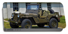 Portable Battery Charger featuring the photograph Willys Army Jeep 20899516 At Fort Miles by Bill Swartwout Fine Art Photography