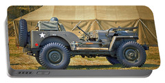 Portable Battery Charger featuring the photograph Willys Jeep U S A 20899516 At Fort Miles by Bill Swartwout Fine Art Photography