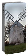 Windmill Along Cape Cod Portable Battery Charger