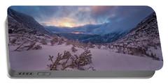 Windswept, Spring Sunrise In Tuckerman Ravine Portable Battery Charger