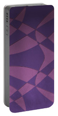 Wings And Sails - Purple And Pink Portable Battery Charger
