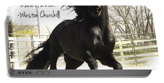 Winston Churchill Horse Quote Portable Battery Charger