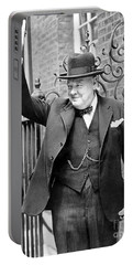 Winston Churchill Showing The V Sign Portable Battery Charger