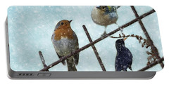 Winter Birds Portable Battery Charger