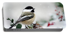 Winter Chickadee Portable Battery Charger