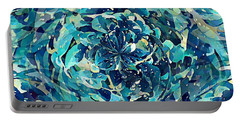 Winter Floral Portable Battery Charger