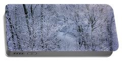 Winter Ice Storm Portable Battery Charger
