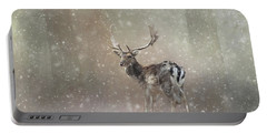 Winter In The Woods Portable Battery Charger