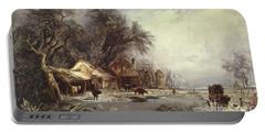 Winter Landscape, 1836 Portable Battery Charger